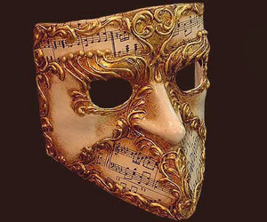 Venetian mask Bauta Musica Blue Moon Mask