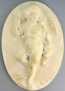 promotion sur Médaillon d'un amour ailé (plâtre) - 26 cm