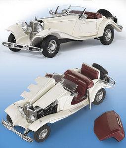 miniature de voiture Mercedes 500k 1935 - blanc The Franklin Mint Quirao idées cadeaux