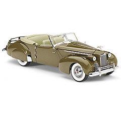 miniature de voiture Packard Darrin 1940 - cubana tan The Franklin Mint Quirao idées cadeaux