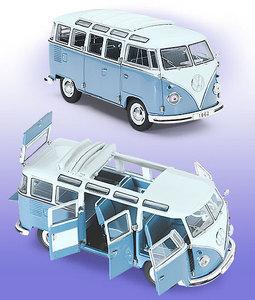 miniature de voiture VW bus 1962 - bleu / blanc The Franklin Mint Quirao idées cadeaux
