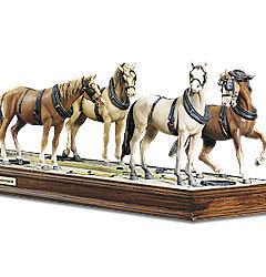 miniature de voiture Wells Fargo 4 chevaux et base The Franklin Mint Quirao idées cadeaux