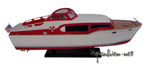 maquette de bateau, voilier, runabout Chris Craft Commander 1954 - 94 cm Gia Nhien Quirao idées cadeaux