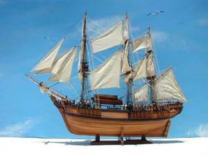 hms bounty 120cm maquette de bateau. Black Bedroom Furniture Sets. Home Design Ideas