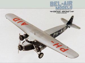 maquette d'avion Fokker F XII Bob Dros - Bel Air Models Quirao idées cadeaux
