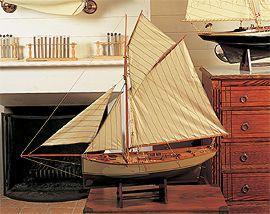 maquette de bateau, voilier, runabout Homardier 120 cm  Quirao idées cadeaux