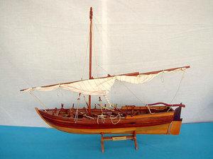 maquette de bateau, voilier, runabout Armed Launch 65 cm Gia Nhien Quirao idées cadeaux
