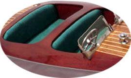maquette de bateau, voilier, runabout Chris Craft Triple Cockpit 80 cm vert Gia Nhien Quirao idées cadeaux