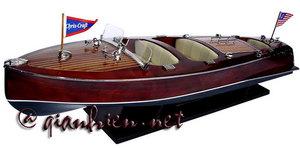maquette de bateau, voilier, runabout Chris Craft Triple Cockpit 80 cm blanc Gia Nhien Quirao idées cadeaux