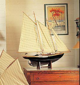 maquette de bateau, voilier, runabout Goëlette Friendship 120 cm  Quirao idées cadeaux