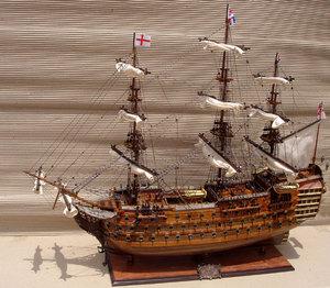 maquette de bateau, voilier, runabout HMS Victory (coque 60 cm) Gia Nhien Quirao idées cadeaux