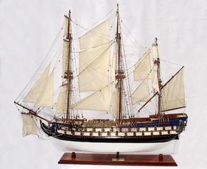 maquette de bateau, voilier, runabout Protecteur - 80cm (peint) Gia Nhien Quirao idées cadeaux