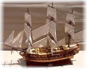 maquette de bateau, voilier, runabout Superbe (coque cuivre 80 cm) Gia Nhien Quirao idées cadeaux