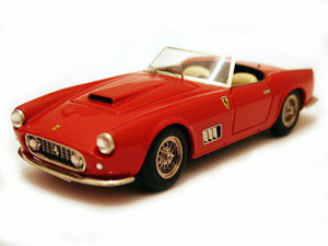 miniature de voiture Ferrari 250 GT LWB California 1959 Route Rouge Ilario Quirao idées cadeaux