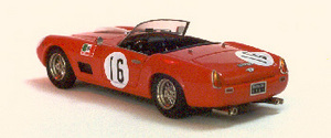 miniature de voiture Ferrari 250 GT LWB California Sebring 1960 Street version Rouge Ilario Quirao idées cadeaux