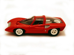 miniature de voiture Ferrari 250 P5 Prototipo Pininfarina Genève 1968 Rouge Ilario Quirao idées cadeaux