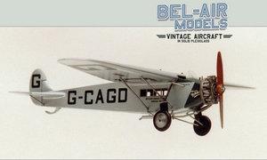 maquette d'avion Fokker Universal Bob Dros - Bel Air Models Quirao idées cadeaux
