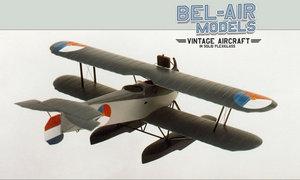 maquette d'avion Van Berkel WA Bob Dros - Bel Air Models Quirao idées cadeaux