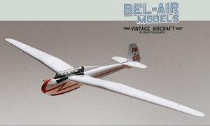 maquette d'avion DFS Kranich II Bob Dros - Bel Air Models Quirao idées cadeaux