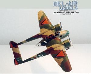 maquette d'avion Fokker G-1 Bob Dros - Bel Air Models Quirao idées cadeaux