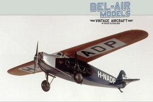 maquette d'avion Fokker F VIIa Bob Dros - Bel Air Models Quirao idées cadeaux