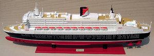 maquette de bateau, voilier, runabout Queen Mary 2  - 100 cm Peint Gia Nhien Quirao idées cadeaux