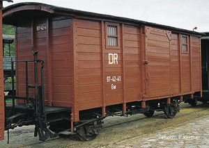 train miniature Wagon couvert HOe DR (Roco 34552) Roco Quirao idées cadeaux