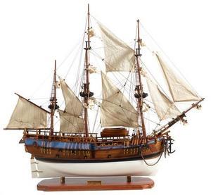 maquette de bateau, voilier, runabout HMS Endeavour (Platinum) - 73 cm Premier Ship Models Quirao idées cadeaux