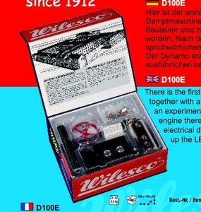 machine à vapeur D100 E - Kit d'expérimentation et machine à vapeur Wilesco Quirao idées cadeaux