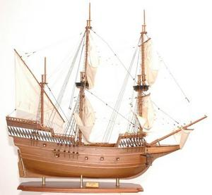 maquette de bateau, voilier, runabout Mayflower peint partiellement - 102 cm Premier Ship Models Quirao idées cadeaux
