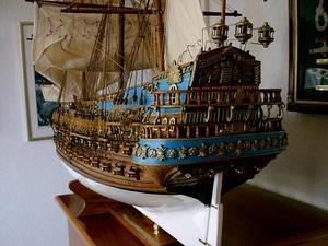maquette de bateau, voilier, runabout San Felipe (Platinum) - 105 cm Premier Ship Models Quirao idées cadeaux