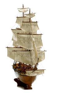 maquette de bateau, voilier, runabout USS Constellation - 104cm Premier Ship Models Quirao idées cadeaux