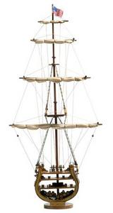 maquette de bateau, voilier, runabout USS Constitution Coupe - 70cm Premier Ship Models Quirao idées cadeaux