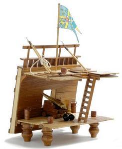 maquette de bateau, voilier, runabout Wasa Poste de Combat - 20cm Premier Ship Models Quirao idées cadeaux