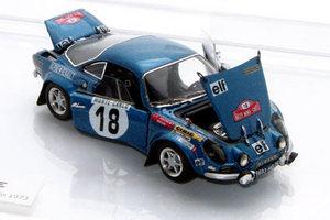 miniature de voiture Alpine 1600S 1ère Monté Carlo 1973  Open  Challange Quirao idées cadeaux