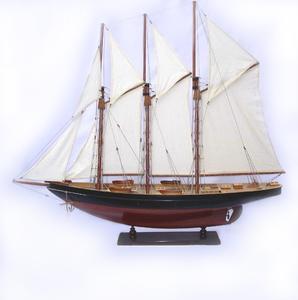maquette de bateau, voilier, runabout Atlantic peint - 80 cm Old Modern Handicrafts Quirao idées cadeaux