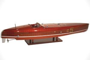 maquette de bateau, voilier, runabout Baby Bootlegger - 50 cm Kiade Quirao idées cadeaux