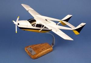 maquette d'avion Cessna 337 Skymaster - 53 cm Pilot's Station Quirao idées cadeaux