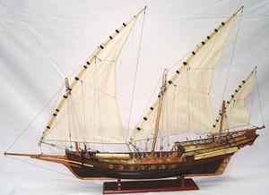 maquette de bateau, voilier, runabout Chebec - 80 cm Old Modern Handicrafts Quirao idées cadeaux