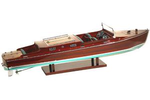 maquette de bateau, voilier, runabout Chris Craft - 50 cm Kiade Quirao idées cadeaux