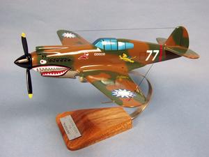 maquette d'avion P-40C AVG Birmanie - 40 cm Pilot's Station Quirao idées cadeaux
