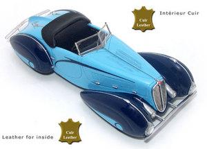 miniature de voiture Delahaye 135 Figoni Falaschi 1936 Bleue Challange Quirao idées cadeaux