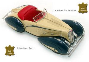 miniature de voiture Delahaye 135 Figoni Falaschi 1936 Jaune / bleu Challange Quirao idées cadeaux