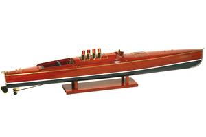 maquette de bateau, voilier, runabout Dixie II - 50 cm Kiade Quirao idées cadeaux