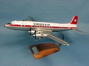 maquette d'avion Douglas DC-6 Swissair - 51 cm Pilot's Station Quirao idées cadeaux