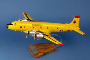 maquette d'avion Douglas DC-6 Sécurité Civile - 51 cm Pilot's Station Quirao idées cadeaux