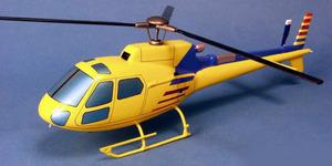 maquette d'helicoptère Ecureuil AS.350 - Civil - 39 cm Pilot's Station Quirao idées cadeaux