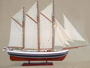 maquette de bateau, voilier, runabout Fulton peint - 80 cm Old Modern Handicrafts Quirao idées cadeaux