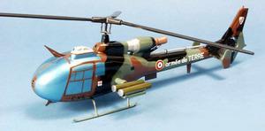 maquette d'helicoptère Gazelle SA.342 Hot - FAF - 39 cm Pilot's Station Quirao idées cadeaux