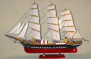 maquette de bateau, voilier, runabout Georg Stage peint - 82 cm Old Modern Handicrafts Quirao idées cadeaux